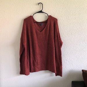 Rustic orange sweater